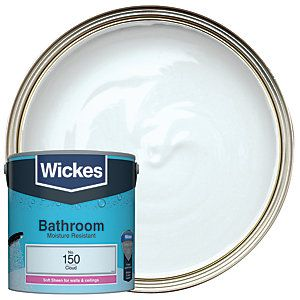 Wickes Cloud No 150 Bathroom Soft Sheen Emulsion Paint 2 5l Pebble Grey Pure Products Home Improvement