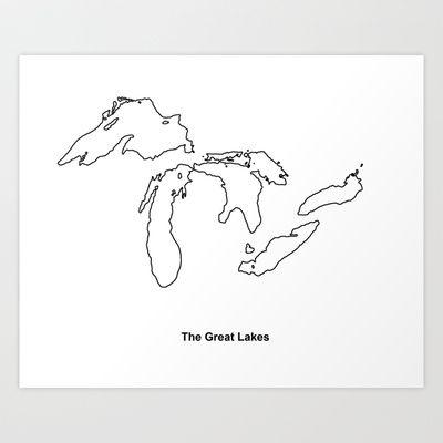 The Great Lakes Art Print by Purple Dragon - $17.68