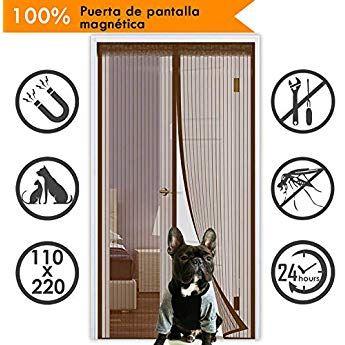 90*210cm Cortina Mosquitera Puerta Tela Mosquitera protecci/ón de Insectos para Sala de Estar Balc/ón HIEHA Puerta Corredera con 32 Magn/ético