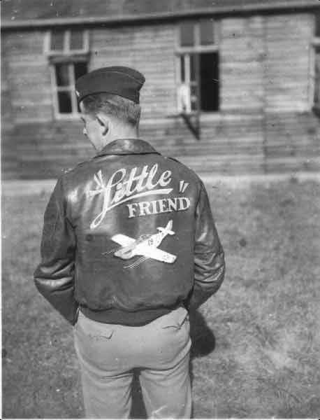 Walter J Kozicki - Fighter Squadron. Walt with his leather jacket