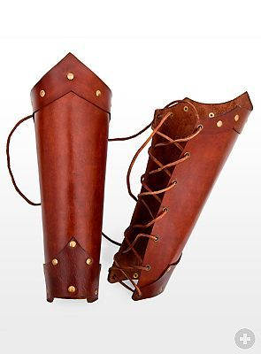 leather greaves | Roman Leather Greaves brown