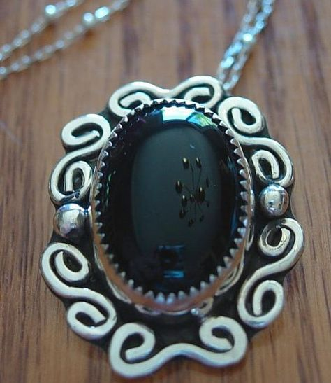 Awesome 16\u201d Black Onyx Vintage Necklace