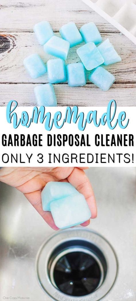 Do you ever walk past your kitchen sink and catch a not so pleasant odor? We have an easy homemade garbage disposal cleaner with just 3 ingredients! Homemade Cleaning Products, Household Cleaning Tips, Household Cleaners, Diy Cleaners, Cleaning Recipes, Cleaners Homemade, House Cleaning Tips, Natural Cleaning Products, Cleaning Hacks