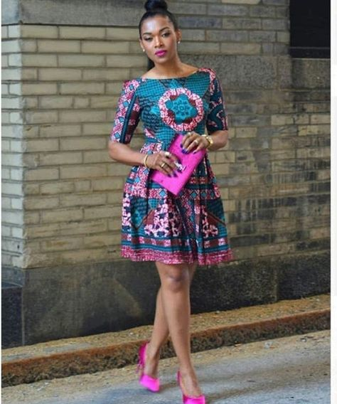 2019 Fascinating and Lovely Ankara Short Gown Styles - Naija's Daily