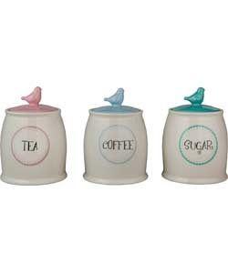 Tea Coffee Sugar Jar Storage Kitchen Jars Argos