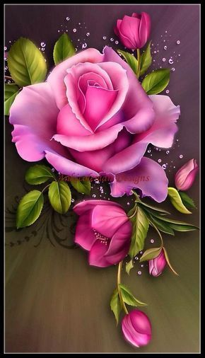 Pink Rose - Counted Cross Stitch Patterns - Printable Chart PDF Format Needlework Embroidery Crafts