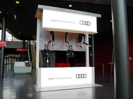Messestand IAA Volkswagen Financial Services AUDI Financial - Audi financial