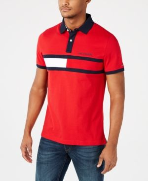 eb4967b97 TOMMY HILFIGER MEN'S CUSTOM FIT LOGO GRAPHIC POLO, CREATED FOR MACY'S. # tommyhilfiger #cloth