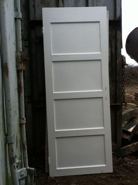 Original 1950s 1940s Reclaimed Four Panel Doors Vintage 1940s Style Pinterest Doors Original 195 Industrial Decor Kitchen Door Furniture Doors Interior