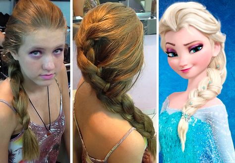 Para Adolescentes Visual De Elsa Do Desenho Frozen Cabelo Elsa