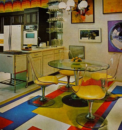 These zany interior design pictures prove that no decade was more colorful than the 1970s