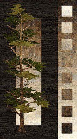 Stonehenge Mighty Pines Fabric Panel Northcott Camo Tree Hunting Cabin Digital Fabric Panel 24 Quilt Panel Fall Landscape Quilts Panel Quilts Stonehenge