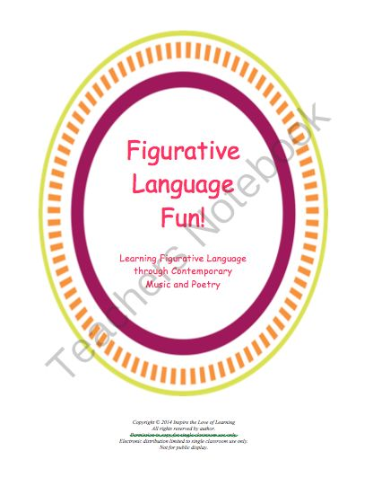 Figurative Language Fun! from Inspire the Love of Learning on TeachersNotebook.com -  - Students will love learning about figurative language through the use of songs they hear on the radio.