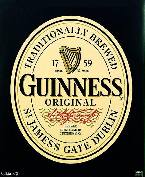 Guinness Logo Poster Bier Werbung Guinness Bierdeckel