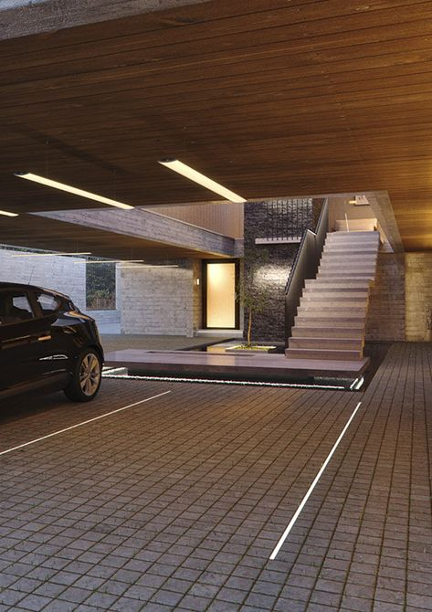 Watertight Ground Lighting Fixtures Garage Door Design Modern Driveway Parking Design