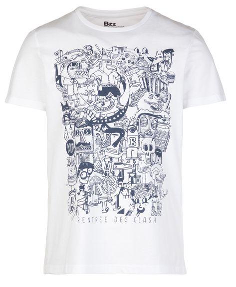 Vintage Art T-shirt Oldschool Design White T-Shirt