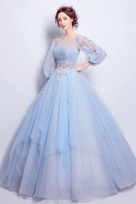 Robe de mariée princesse bleu clair \u002