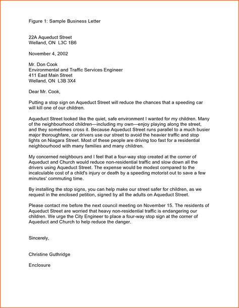 Business Letter Samples Contract Template Letters For Students