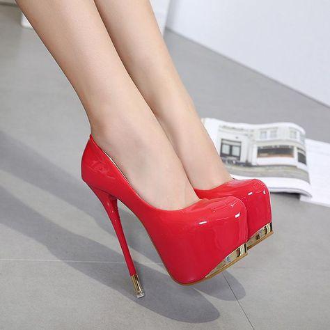 Round Toe Platform Low Cut Super High Stiletto Heels Prom Shoes