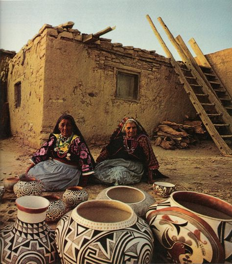 Acoma Pueblo, Cibola County, New Mexico, USA - One of the oldest still-inhabited cities in America.