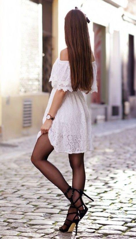 Pin By Jason ė Lawrence On Ari Maj Lace White Dress White Dress Fashion