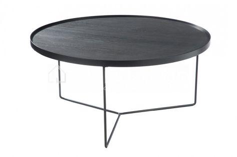 Salontafel retro hout metaal zwart j line webshop livinghop eu