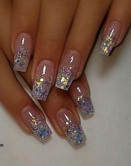 55 Alluring Glitter Nail Art Design Perfect For Every Occasion -  #Alluring #Art #design #Gli...