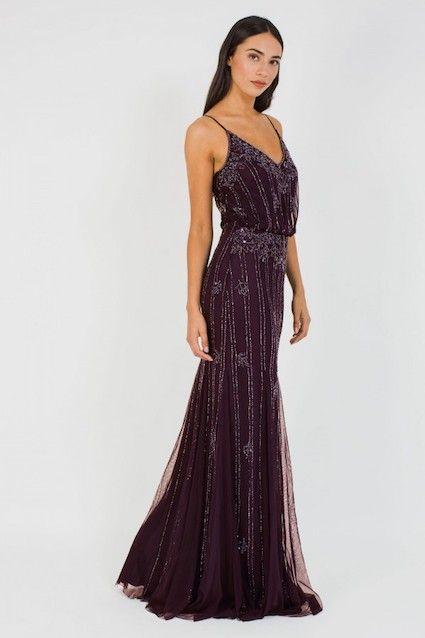 Lace Beads Keeva Bordeaux Maxi Dress Purple Myonewedding Co Uk Beautiful Bridesmaid Dresses Dresses Purple Maxi Dress
