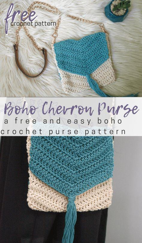 Free Easy Boho Crochet Purse Pattern Crochet Pinterest Crochet