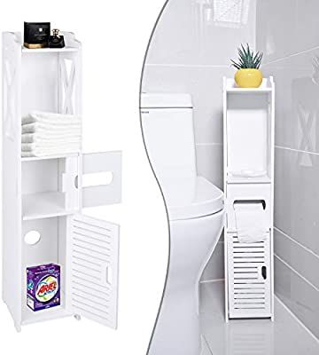Small Bathroom Storage Toilet Paper Storage Corner Floor Cabinet With Sh Small Bathroom Storage Toilet Paper Storage Bathroom Storage Organization