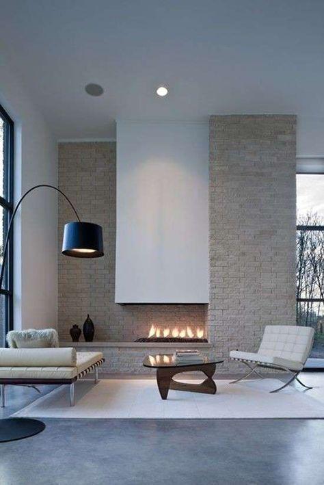 Idee Per Arredare Un Salotto Moderno Design Camino Idee Di