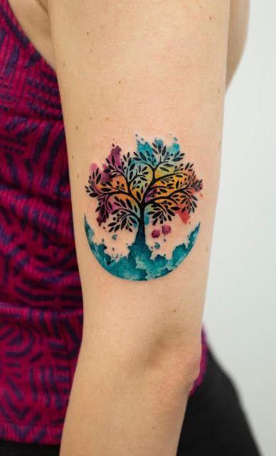 Tatuajes Bonitos De Arboles Que Atraen Abundancia Tree Of Life Tattoo Life Tattoos Cute Tattoos