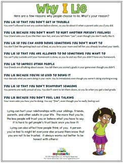 Why I Lie (+ES) | Teaching social skills, Social emotional ...