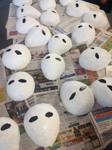 Blow up a balloon. Paper mache' it. 3 layers. Dry between layers. Cut in half. Cut eyes out. Paint.  Last coat of PVA over the paint to shine.  Or just go here lol http://www.wikihow.com/Make-a-Papier-M%C3%A2ch%C3%A9-Mask-(for-Kids)