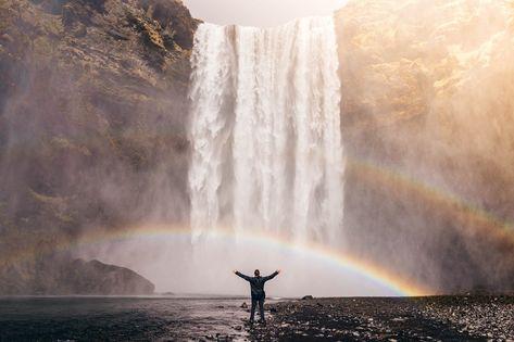 Free Image on Pixabay - Waterfall, Rainbow, Spray, Water