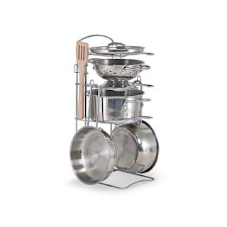 Melissa Doug Let S Play House Stainless Steel Pots Pans Play Set Kohls Pots And Pans Sets Play Kitchen Sets Pretend Play Kitchen