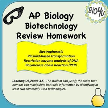 Ap Biology Biotechnology Review Homework Ap Biology Biology Resources Biology