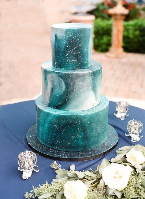 Galaxy cake with Scorpio & Aquarius constellation Galaxy-Torte mit Sternbild Skorpion & Wassermann