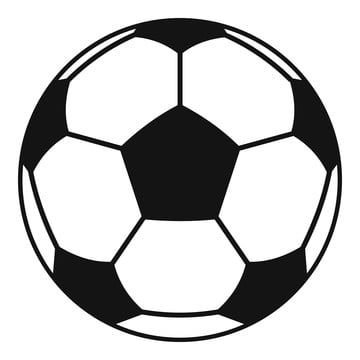 Football Or Soccer Ball Icon Simple Style Png And Vector In 2020 Football Ball Soccer Soccer Ball