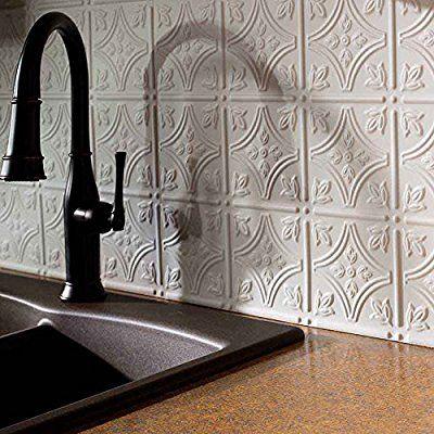 tin backsplash kitchen faux tin tiles