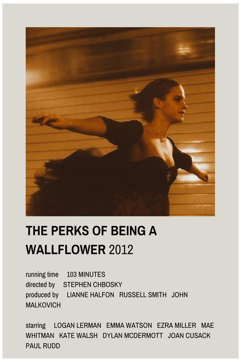 perks of being a wallflower minimalist poster