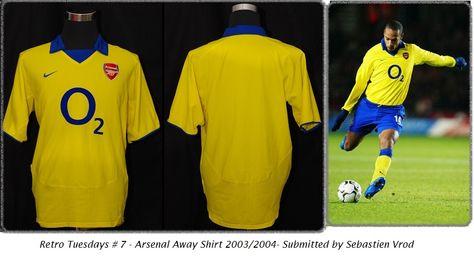 c39b3c8c Arsenal Away Shirt 2003/04