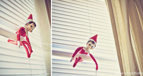 Hanging from Blinds