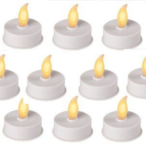 Flameless Battery Tea Lights Set Of 9 With Batteries By