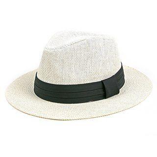 Männer Frauen Sommer Strand Trilby Fedora Stroh Panama Sun Cap Sun Jazz Hut