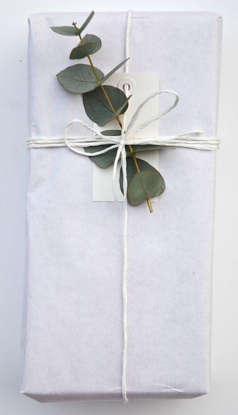 leaf + white wrap