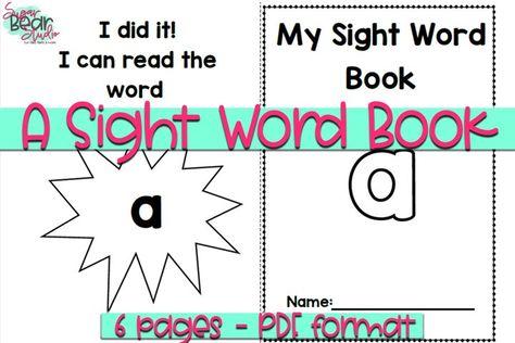 A Sight Word Book - Educational Resource (1006317) | Educational | Design Bundles