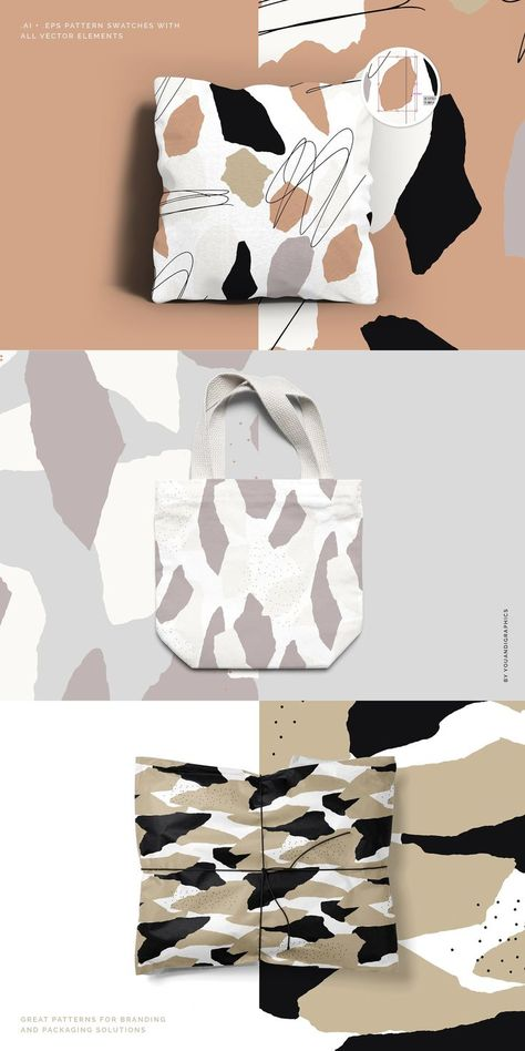 Torn Paper Abstract Patterns