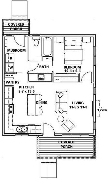 Plan No 826420 House Plans By Westhomeplanners Com Tiny House Floor Plans Small House Floor Plans Tiny House Plans