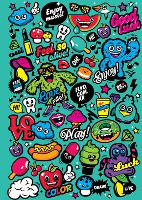 Block All Together By Fly Design Studio Via Behance Graffiti